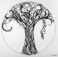 Trees - ink doodling.