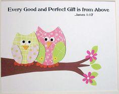 Baptism Gift Nursery Art Decor Kids Wall Art by vtdesigns on Etsy, $14.00
