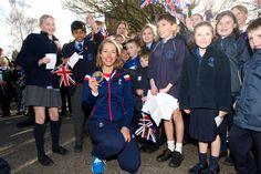 Lizzy with Children form Steephill School