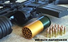 Interesting concept, 40mm beehive round using .22 LR's!