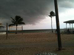 Higgs Beach - Rain storm coming in off the Atlantic Ocean - Photo by Cindy M. Rhoades, VHKW.com