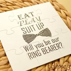 Will You Be Our Ring bearer, Personalized Ring bearer Invitation, Ring bearer Puzzle, Ring bearer Proposal, Ring Bearer Puzzle Invitation by BoutiqueEclipse on Etsy https://www.etsy.com/listing/467189927/will-you-be-our-ring-bearer-personalized