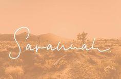 Savannah Font Set by Sinikka Li on @creativemarket
