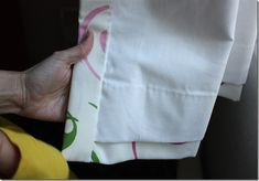 Melanie at The Crafty Cupboard gives an excellent tutorial on making professional looking drapes. This is the real deal, with proper lining and blind hemming.