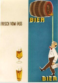 Original vintage poster GERMAN BEER FRESH FROM TAP 1961   eBay