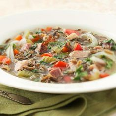 Wild Rice-Ham Soup: This easy slow-cooker soup is a great way to use leftover ham