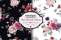 Seamless floral patterns by ollalya on @creativemarket
