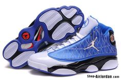 Hot Sale Noble Air Jordan White Blue Mens Shoes  http://www.czjordanshoes.com/cz2429.html