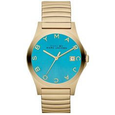 MARC BY MARC JACOBS 'Henry' Stretchy Bracelet Watch ($175) ❤ liked on Polyvore