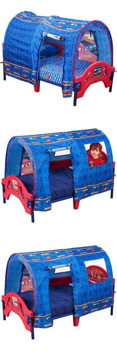 Kids Furniture Disney Pixar Cars Toddler Bed With Tent Kids Characters Boys Bedroom Furniture -  sc 1 st  Pinterest & Kids at Home: Boys Toddler Tent Bed Disney Cars Pixar Side Rails ...