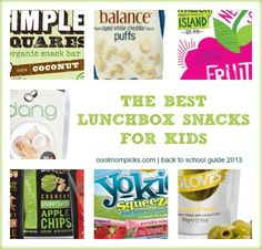 12 of the best healthier lunchbox snacks for back to school--a lot of which you might not know.