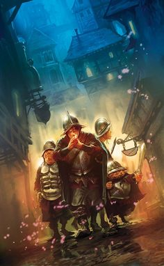 Illustrations for the French edition of the Discworlds novels by Marc Simonetti Night Watch
