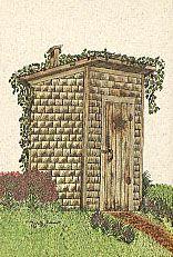 An East Texas Homemade Outhouse