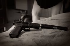 Suppressed Glock 17 by viperspd