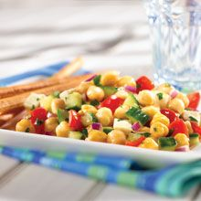 Mediterranean Chickpea Salad | GOYA® Recipes ... + 1 tbsp of balsalmic vinegar, 1 tbsp oregano, and garlic, minced. Yum!