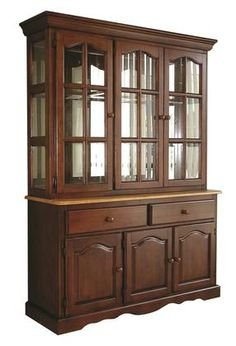 If you are looking for a multi-purpose cabinet. then the Sunset Trading Sunset Selections China Cabinet is the perfect option for you. The solid wood construction of this cabinet enables years of utility. This piece is versatile enough to complement . Crockery Cabinet, Buffet Cabinet, China Cabinet, Sideboard, Corner Media Cabinet, Stereo Cabinet, Raised Panel Doors, Home Ceiling, Wooden Cabinets