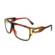 54e9e1fe02 Old School Celebrity Style Clear Lens Flat Top Aviator Glasses Frames A1170