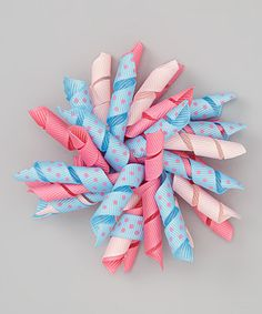 Take a look at this Blue & Pink Polka Dot Korker Clip by The Hair Candy Store on #zulily today! http://www.thehaircandystore.com