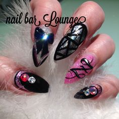 Family Facets #nailart #naildesign #stilettonails #nails