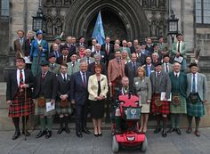 Clan Chiefs at The Flodden Service in September 2013. Click the image to identify them. (3610×2652)