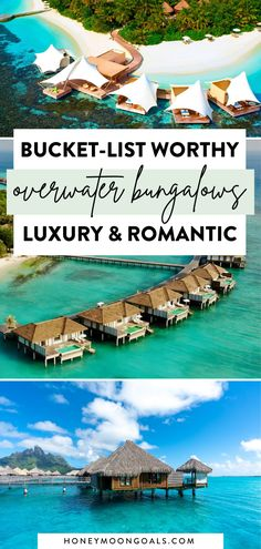 A stay in an overwater bungalow a bucket-list item for most of those with wanderlust. An overwater bungalow combines luxury and seclusion like no other accommodation. We found some of the most spectacular overwater bungalows for your romantic getaway.Here are the best overwater bungalows in the world. Honeymoon Goals Honeymoon Places | bora bora honeymoon | maldives honeymoon Top 10 Honeymoon Destinations, Caribbean Honeymoon, Affordable Honeymoon, Caribbean Resort, Best Honeymoon Destinations, Travel Destinations, Overwater Bungalow All Inclusive, Bora Bora All Inclusive, Bora Bora Honeymoon