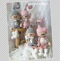 Muñecos crochet Baby Girl Crochet, Knit Or Crochet, Cute Crochet, Crochet For Kids, Knitted Dolls, Crochet Dolls, Crochet Key Cover, Clay Fairies, New Dolls