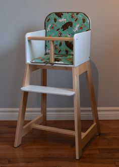 Apples & Beavers | High chair and cushion DIY