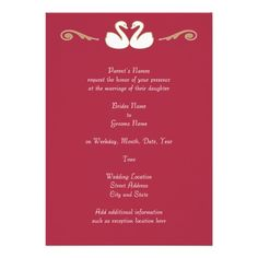ShoppingSwan Love Wedding InvitationThis site is will advise you where to buy