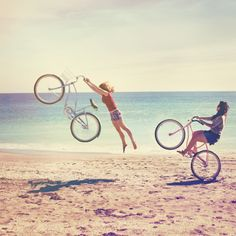 Yeah, this would probably happen to me if I tried to ride my bike at the beach, haha