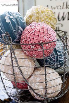 Make these cute rag balls - great bowl filler