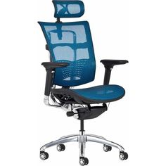 Posture Management Ergonomic Office Chair In Blue