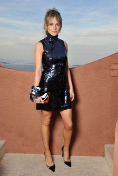 Cressida Bonas front row at Dior Resort 2016. [Photo by Stéphane Feugère]