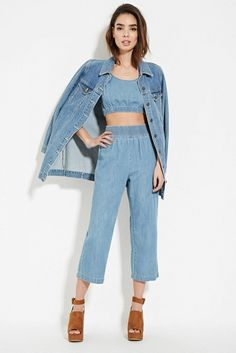 Forever 21 Contemporary Denim Culottes