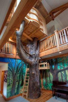 "Rustic Kids Bedroom with Exposed beam, Wheat Beige / French Oak / Builders / 3 1/2"", Hardwood floors, Balcony, paint2, paint3"