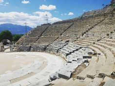 The ancient theater of Philippi in North Greece . Greece Pictures, Greeks, Greece Travel, Exploring, Theater, City Photo, Louvre, Places, Instagram Posts
