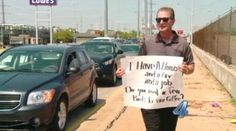 Doug Eaton celebrated his 65th birthday by giving away free money in Oklahoma City on Wednesday. (Photo: KFOR-TV)
