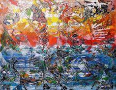 """Saatchi Art Artist Igor Eugen Prokop; Painting, """"22.  BERLIN  10. THE  SUNLIGHT,THE EAGLE,ME AND THE  OCEAN."""" #art"""