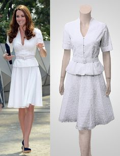 White eyelet jacket and skirt Broderie by TatianasDelights on Etsy, $229.00
