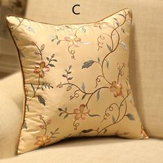 Embroidered flower pillow Chinese style decoration cushions for couch