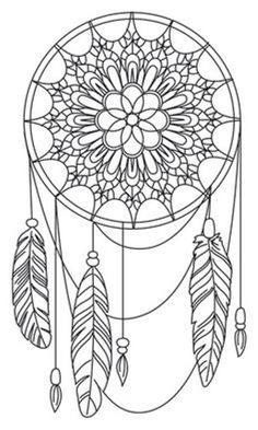158 Best Dreamcatcher Coloring Page Images In 2019 Mandala