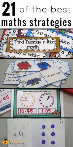 Are you after some maths strategies and games to incorporate into your math program? I've put together 21 different maths strategies, activities and fun games that cover a range of math skills. From mental maths strategies, to times tables tricks and teaching about area. Here you'll find something to suit the different needs and grade levels of all your students.