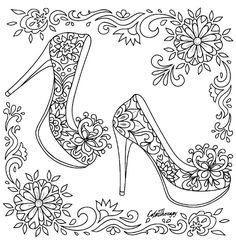 High Heel Shoes | Color Therapy App is fun and relaxing! Try this app for Free! get.colortherapy.me