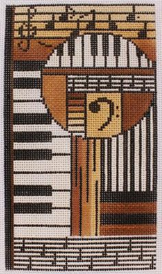 """Mindy # 2379E Musical, Canvas 3.5""""x7"""" on 18 mesh. Will also fit a smartphone"""