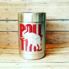 Alabama Roll Tide Stainless Steel Can Holder|| Roll Tide Elephant Game Day Can Holder || GameDay Alabama Tailgate || Alabama Fan Gift by SouthernRuckus on Etsy