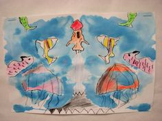 inkblot art - starting to draw image  rhythmandglues.wordpress.com