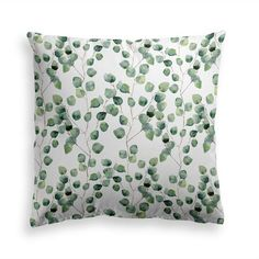 Try our EUCALYPTUS VINES throw pillow. Brilliant, dazzling hues of greens will electrify any home. Trees To Plant, Plant Leaves, Power Nap, Green Pillows, Decorative Throw Pillows, Modern Contemporary, Pillow Covers, Floral Prints, Vines
