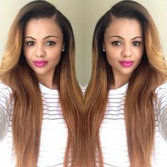 30 inches side part sew in straight hair - Google Search