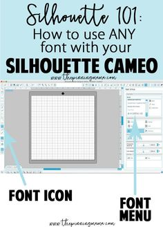 Silhouette How to use any font with your Silhouette Studio software. Silhouette Design, Silhouette Cameo Fonts, Silhouette Cameo Tutorials, Silhouette School, Silhouette Cutter, Silhouette Curio, Silhouette Cameo Machine, Silhouette America, Silhouette Portrait