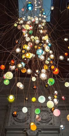 Bocci - - tall contemporary chandelier by Omer Arbel for the V&A Museum and London Design Festival 2013 -