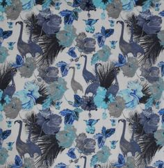 0b2544cf864 New Orig  85 Mens NOIZE Birds Cranes Floral Cotton SHIRT~S~40